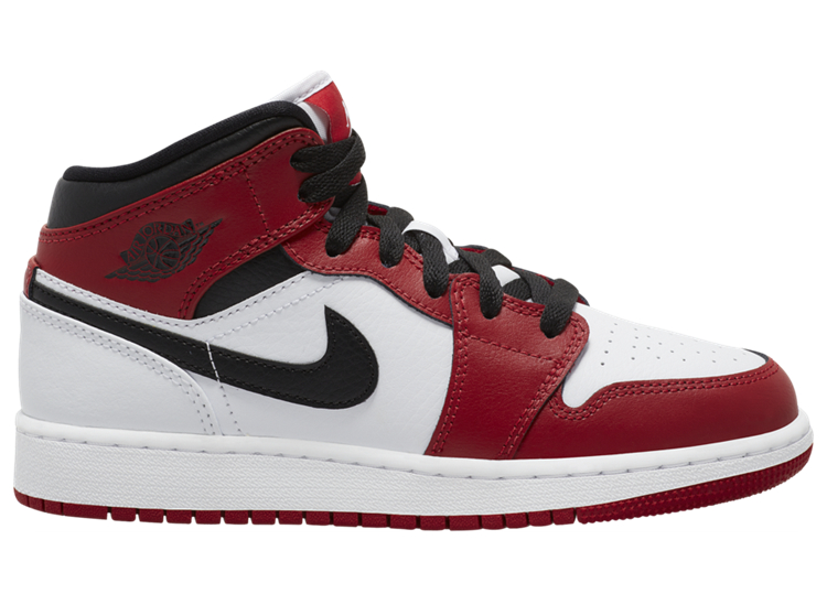 AJ,AJ1 Mid,GS,Gym Red,554725-1  「小芝加哥」配色 Air Jordan 1 Mid 即将发售!可是...