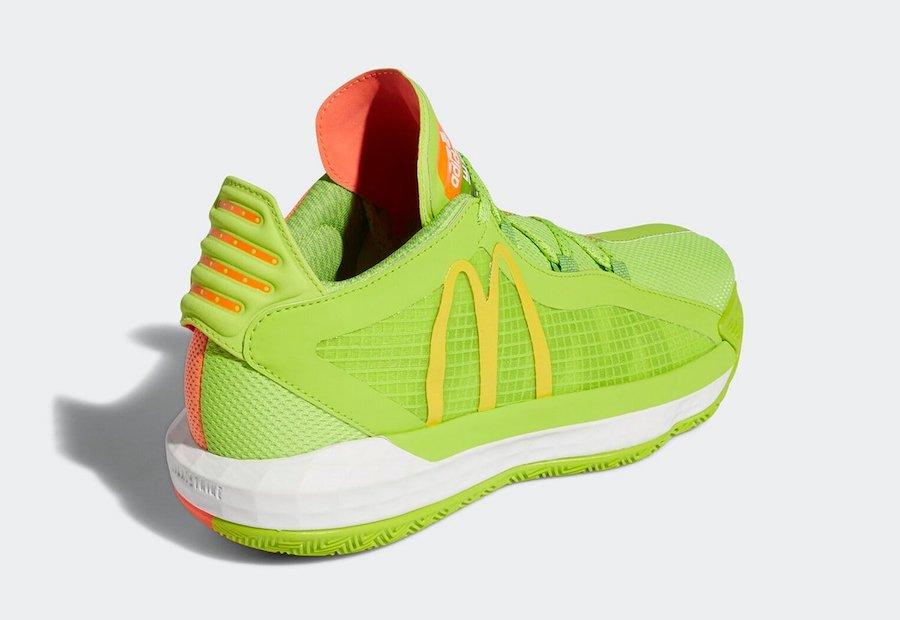 DAME 6,adidas,麦当劳,FX3334  超醒目大 M Logo!这双麦当劳 x 利拉德 Dame 6 看点十足!