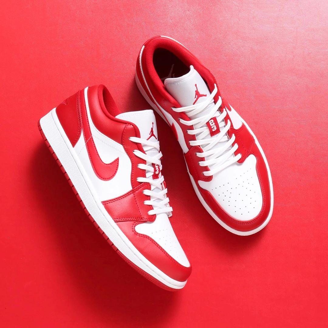 天价套装的兄弟版本!白红 Air Jordan 1 Low 本周发售