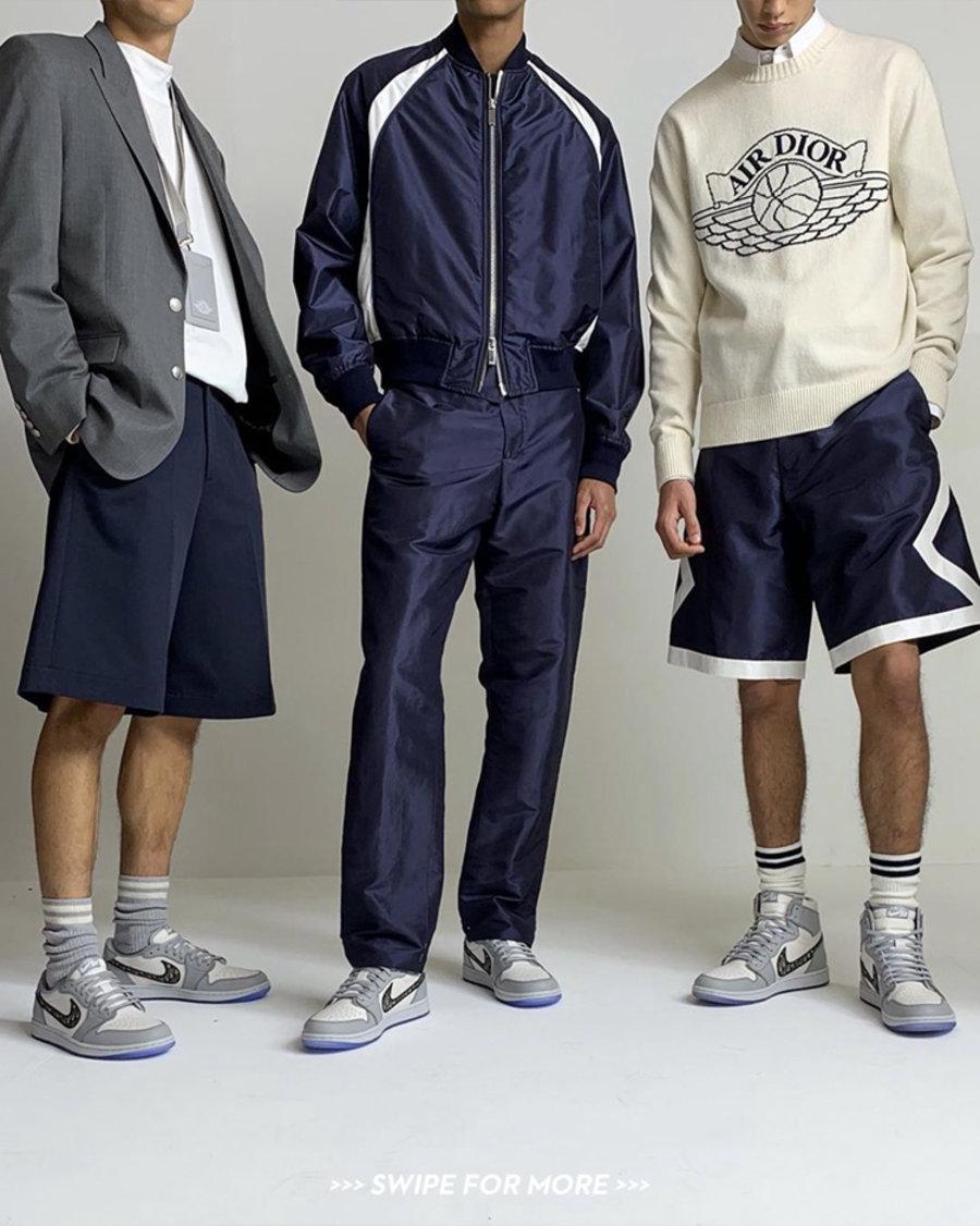 Dior,AJ,AJ1,Air Jordan 1,CN860  疑似发售预热!Travis Scott 上身未曝光 Dior x Air Jordan 服饰!