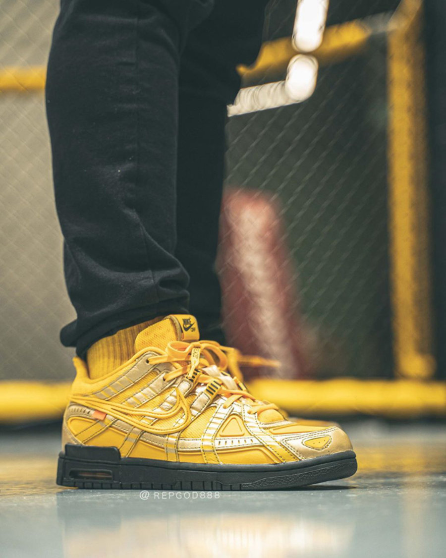OFF-WHITE,Nike,Air Rubber Dunk OFF-WHITE x Nike Air Rubber Dunk 最新上脚!细节超丰富!