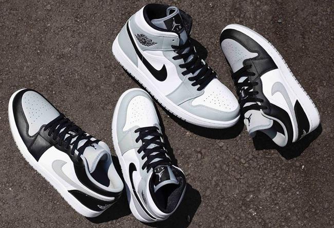 """莆田鞋-Air Jordan 1 Mid """"Light Smoke Grey"""" 货号:554724-092 / 554725-092(GS)"""