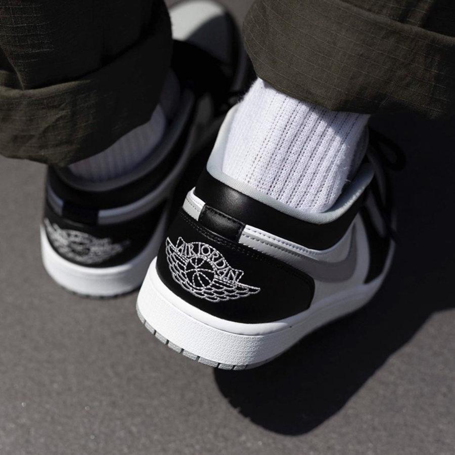 """莆田鞋-Air Jordan 1 Mid """"Light Smoke Grey"""" 货英超下注平台:554724-092 / 554725-092(GS)插图(6)"""
