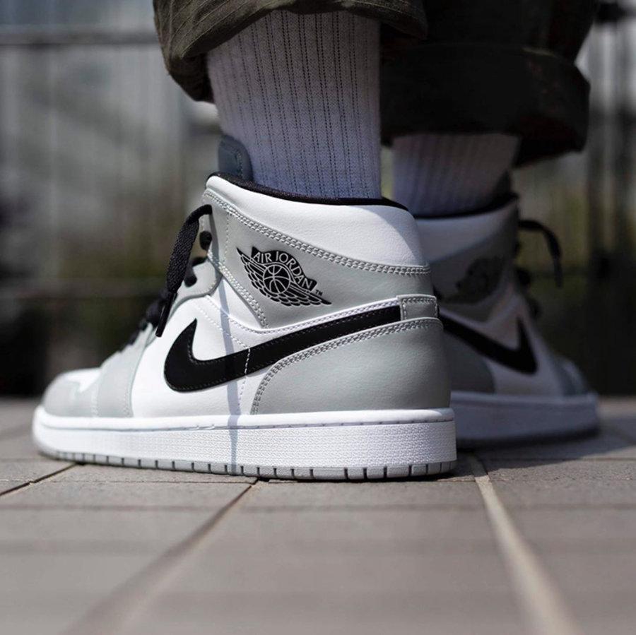 """莆田鞋-Air Jordan 1 Mid """"Light Smoke Grey"""" 货英超下注平台:554724-092 / 554725-092(GS)插图(4)"""