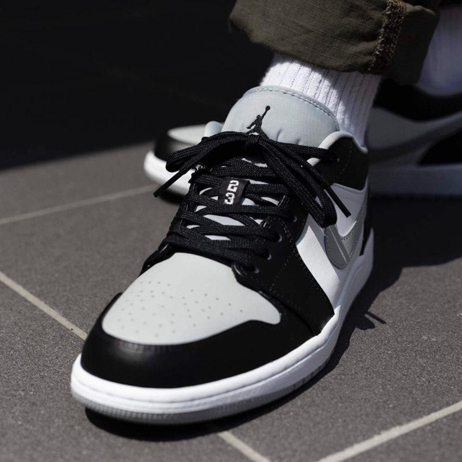 """莆田鞋-Air Jordan 1 Mid """"Light Smoke Grey"""" 货英超下注平台:554724-092 / 554725-092(GS)插图(2)"""
