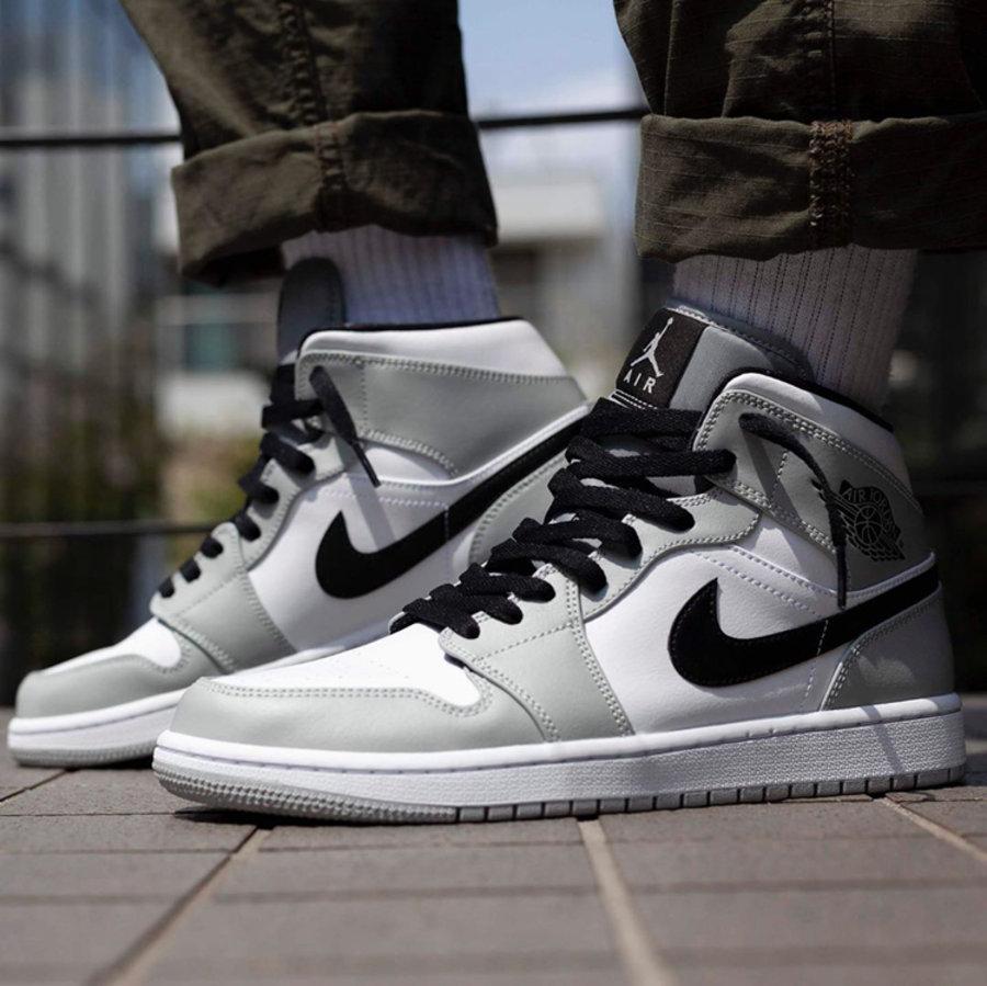 """莆田鞋-Air Jordan 1 Mid """"Light Smoke Grey"""" 货英超下注平台:554724-092 / 554725-092(GS)插图(3)"""