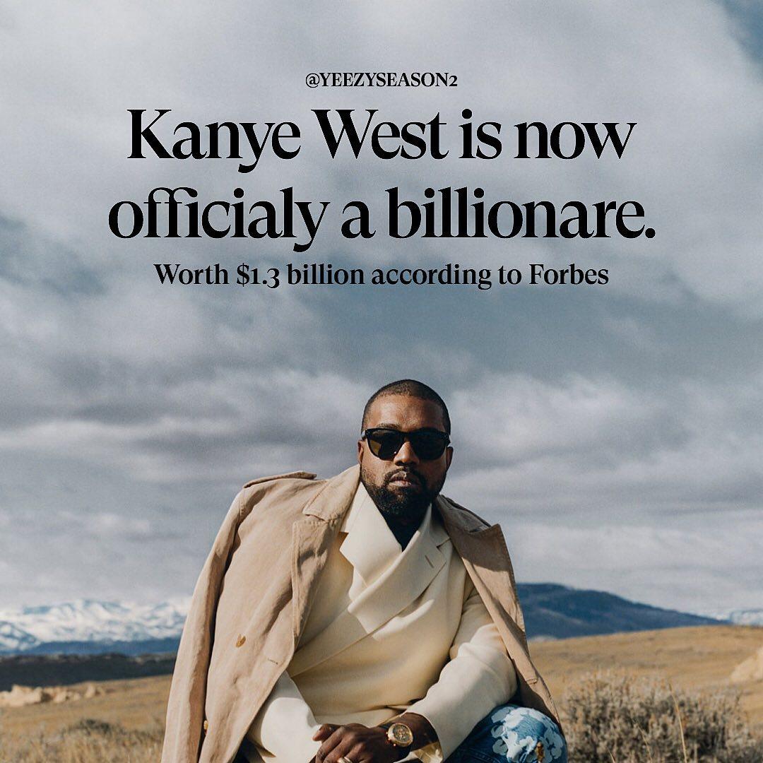 adidas,Yeezy,侃爷  福布斯官宣侃爷成为亿万富翁!但侃爷自己并不满意..