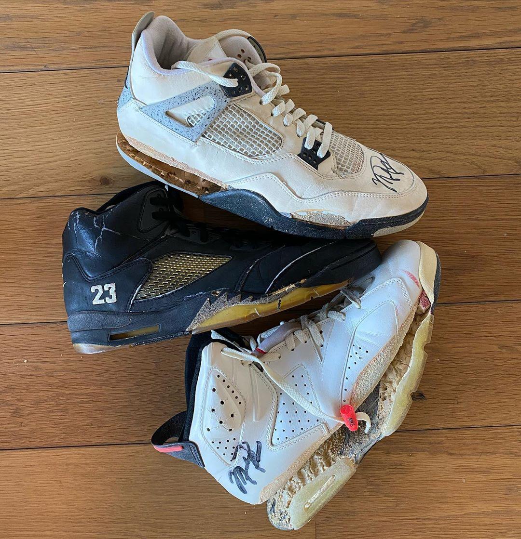 AJ4,AJ5,AJ6,Air Jordan 4,Air J  乔丹 30 年前赛场亲着的 AJ 球鞋,现在都美得不可描述...