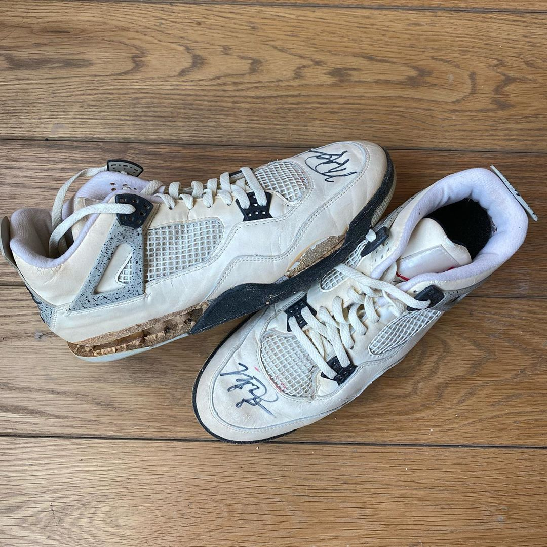 AJ4,AJ5,AJ6,Air Jordan 4,Air J  喬丹 30 年前賽場親著的 AJ 球鞋,現在都美得不可描述...