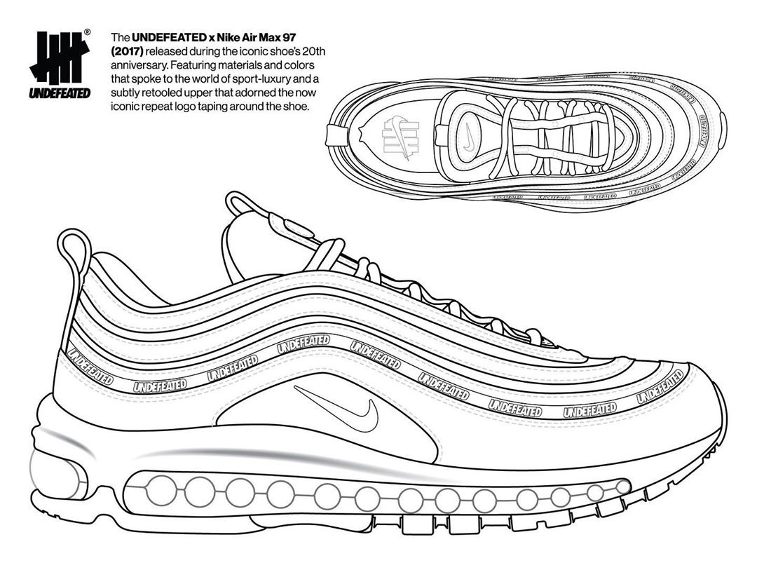 """UNDEFEATED,UNDFTD,Air Max 97,N  官方消息!UNDFTD x Nike 天价联名居然可以 """"定制"""" 了!"""