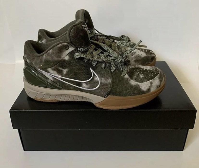 Nike,UNDFTD,Kobe 4  配色风格大变!军绿扎染 UNDFTD x Kobe 4 实物曝光!
