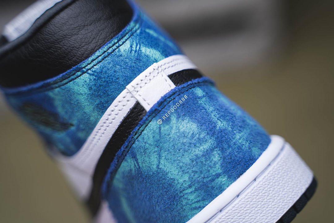 Air Jordan 1,AJ1,High OG WMNS,  神仙颜值!「扎染」 Air Jordan 1 最新上脚美图释出!太帅了!