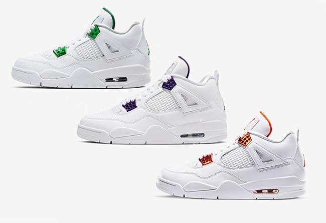AJ4,Air Jordan 4,Metallic,  3 双金属 AJ4 明早发售!经典 OG 小白鞋!