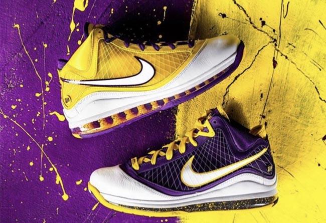 Nike,LBJ7,LeBron 7,Lakers,CW23  湖人鸳鸯 LeBron 7 官网预告已出,国内周六发售!