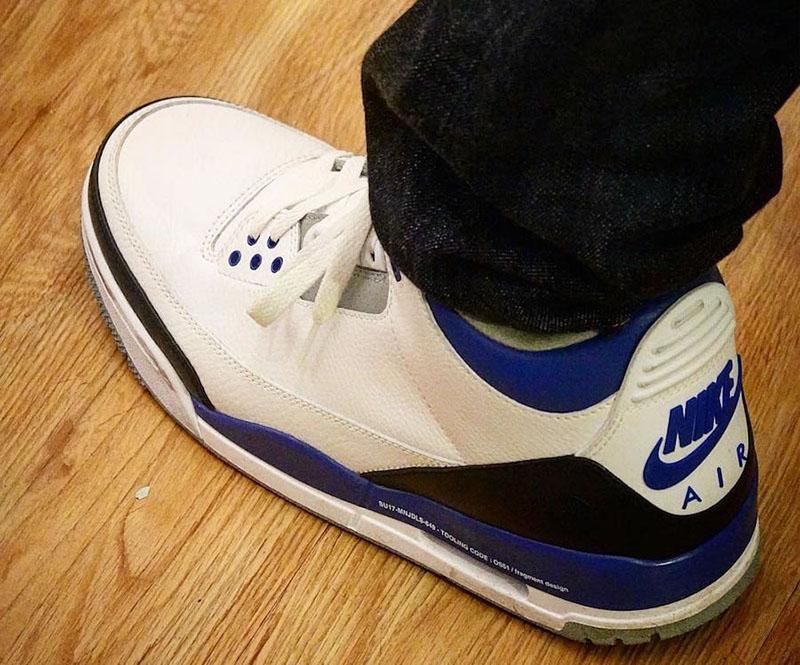 "AJ3,Air Jordan 3,The Ten,Fragm  「盖章大师」名不虚传!藤原浩晒出 ""The Ten"" 闪电联名 AJ3!"