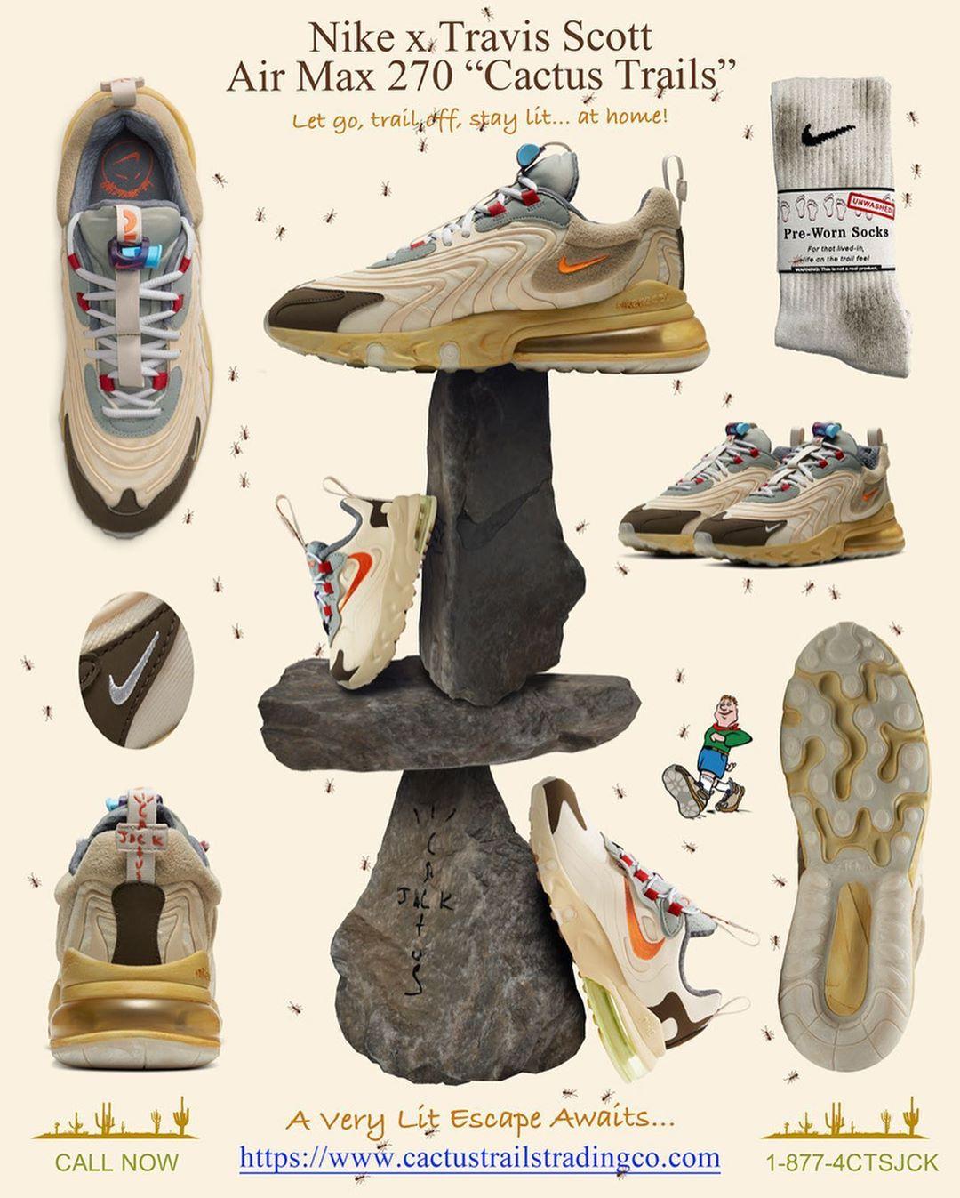 Travis Scott,Nike,Air Max 270  國內近 30 家店鋪即將登記!TS x Nike 新聯名特殊包裝曝光!