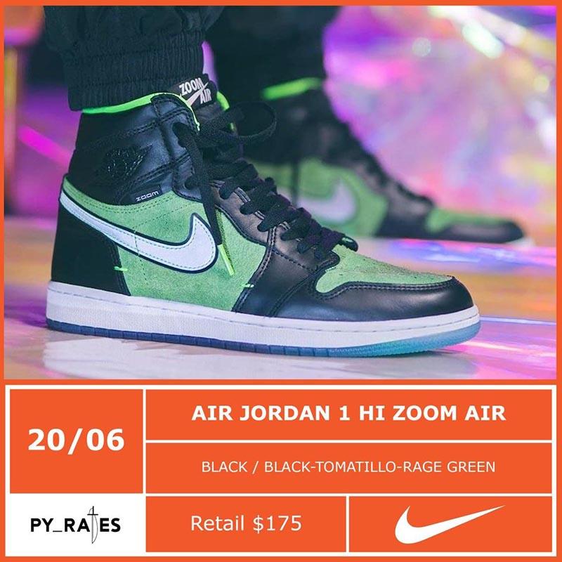 Air Jordan 1 High Zoom,Aj1,Rag  搭载全掌气垫!第三款 Zoom AJ1 下月发售!