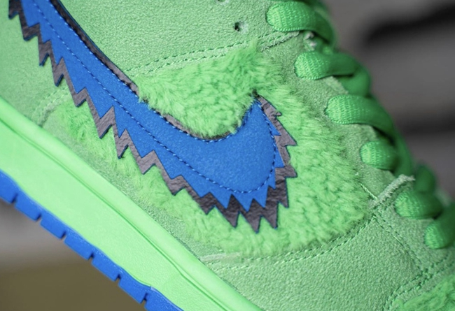 Grateful Dead,Nike,Dunk Low,Gr  看着就超贵系列!Grateful Bear x Nike Dunk SB 实物细节曝光!