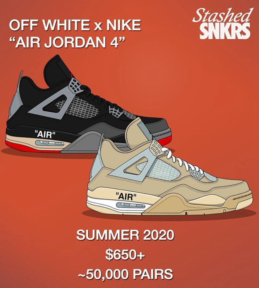 OFF-WHITE,AJ,AJ4,Air Jordan 4,  别忘了 OW x AJ4 今夏发售!传闻货量紧张,不好抢!