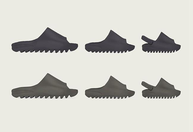 Yeezy Slide,Soot,Core,  明星挚爱的夏日宝藏拖鞋!两双新配色 Yeezy Slide 即将发售!