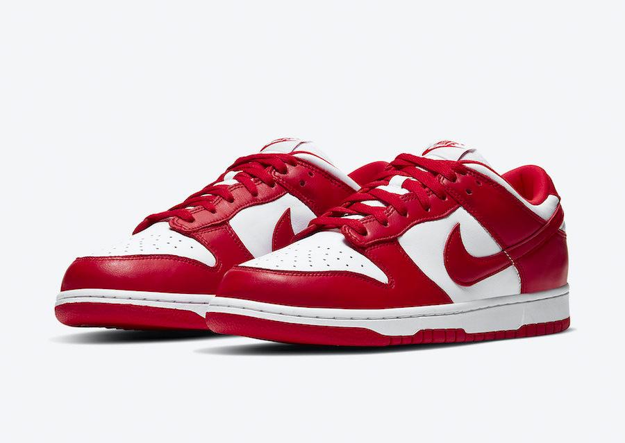 CU1727-100,Dunk,Nike CU1727-100 雪城之后又一活力款!白红 Dunk Low 发售日期定了!
