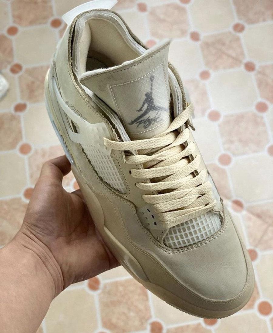 OFF-WHITE,Air Jordan 4,AJ4,发售  细节颇具看点!OW x AJ4 最新实物预览!今夏发售!