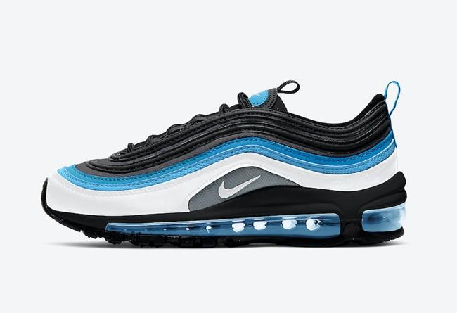 Nike,Air Max 97,GS,921522-106  清爽白蓝配色!这双 Air Max 97 太适合夏天,可惜...