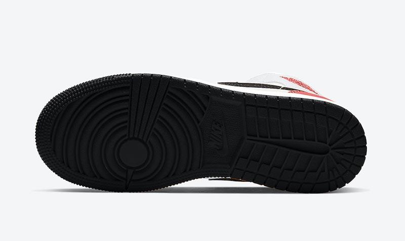 AJ1,Air Jordan 1 Mid GS,BQ6931  黑脚趾 + 扣碎篮板!这双 Air Jordan 1 Mid 着实好看!