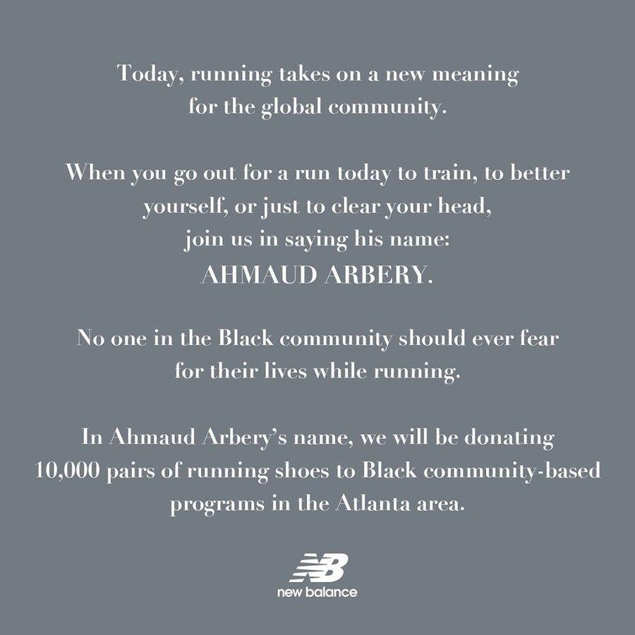 New Balance  用實際行動為黑人發聲!New Balance 捐出 10000 雙跑鞋