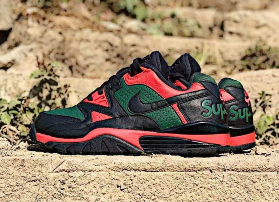 Nike,Supreme,Air Cross Trainer  奢华 Gucci 配色!Nike x Supreme 下一双联名最新实物释出!