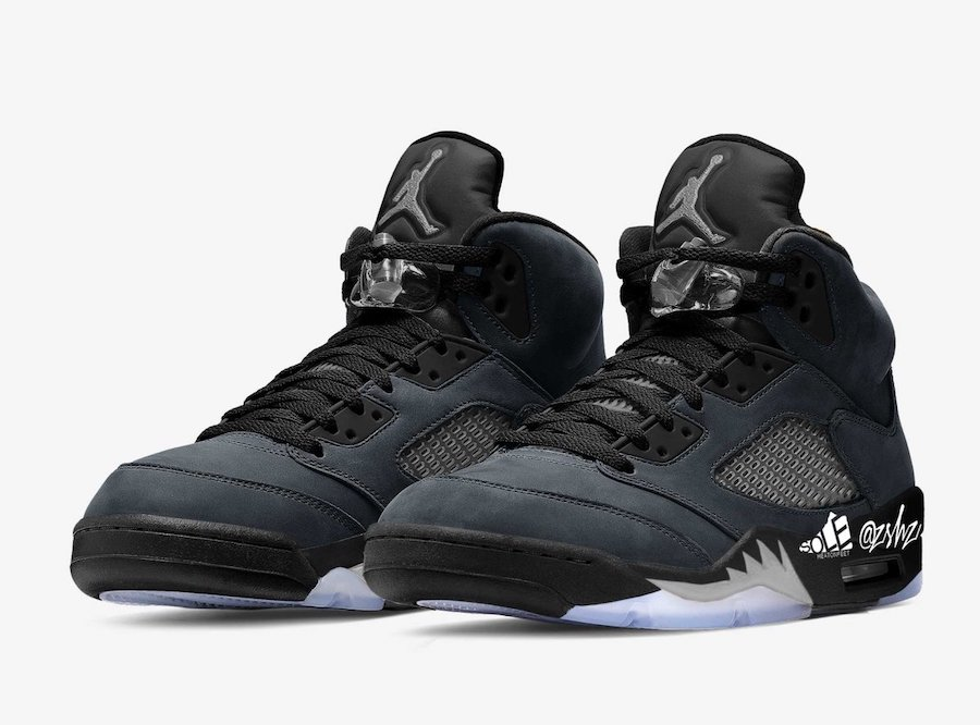 "Air Jordan 5,Anthracite,DB0731  稀有罕見配色!Air Jordan 5 ""Anthracite"" 首度曝光!"
