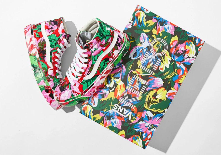 KENZO,Vans Vault  花卉鞋面太像藝術品!KENZO x Vans 聯名現已發售!