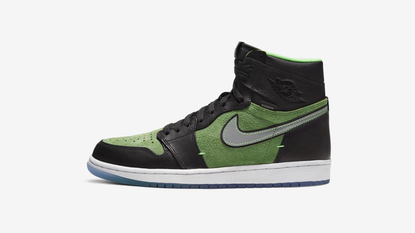 AJ1,Air Jordan 1,CK6637-002,RA  高于原价!黑绿 AJ1 Zoom 本周发售!SNKRS 已上架!