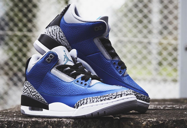AJ3,Air Jordan 3,CT8532-400,发售  价值十万的亲友球鞋兄弟配色!黑蓝 AJ3 下周发售!
