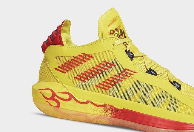 "adidas Dame 6 ""Hot Rod"" 货号:FW9026"