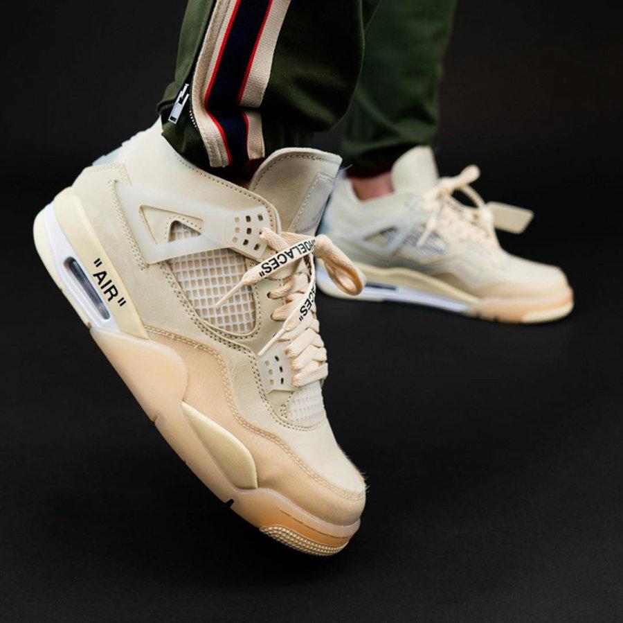 Air Jordan,OFF-WHITE,AJ4,CV938  最新上脚美图!拍卖价 20 万美元的 OW x AJ4 下月发售!