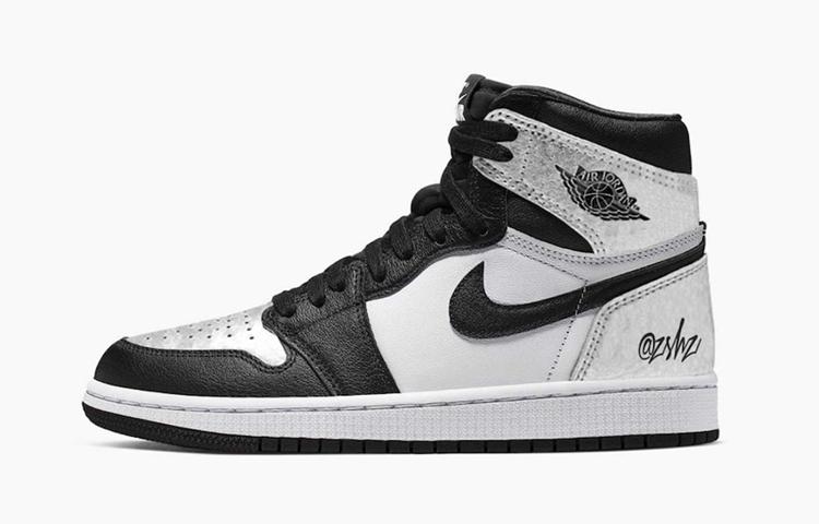 AJ,AJ1,Air Jordan 1 High OG WM  新「黑银」配色 Air Jordan 1 效果图释出!但是...
