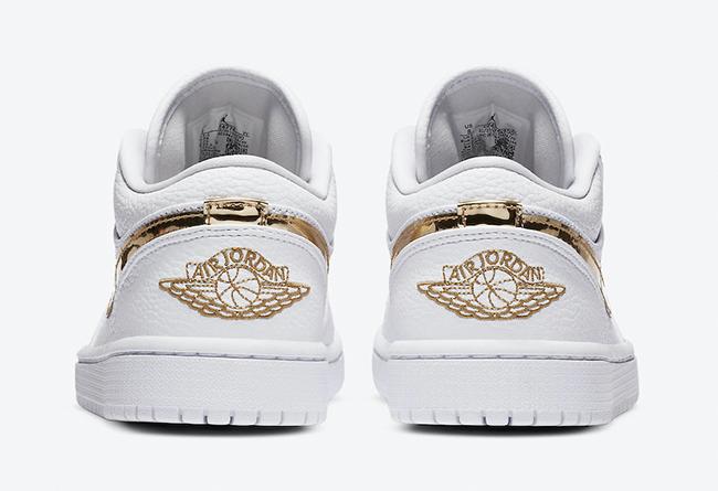 Air Jordan 1 Low,AJ1,Metallic  加入华丽的液态金属元素!这双 AJ1 小白鞋真是夏日绝配!