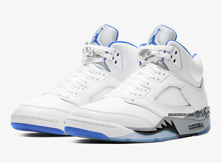 "Air Jordan 5,AJ5,Hyper Royal,D  清爽白蓝配色!Air Jordan 5 ""Hyper Royal"" 效果图释出!"