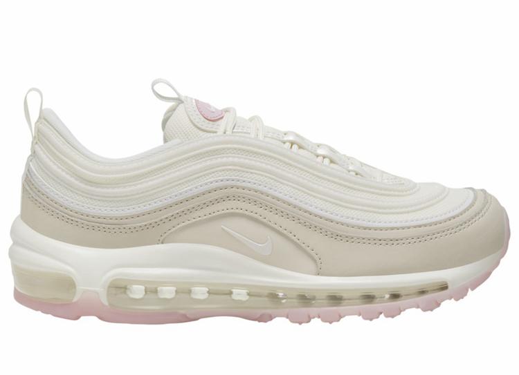 Nike,Air Max 97,CT1904-100  淡粉色装饰!这款全新配色的 Air Max 97 你打几分?