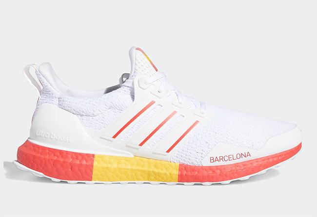 "adidas Ultra Boost DNA ""Barcelona"" 货号:FY2896"
