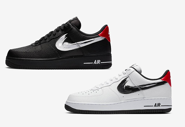 "莆田鞋-Nike Air Force 1 Low ""Brushstroke Swoosh"" 货号:DA4657-001"