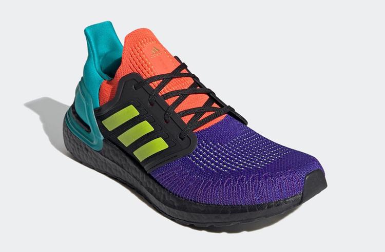 adidas,Ultra Boost 2020,FV8332  亮眼撞色大拼接!Ultra Boost 20 新配色你打几分?