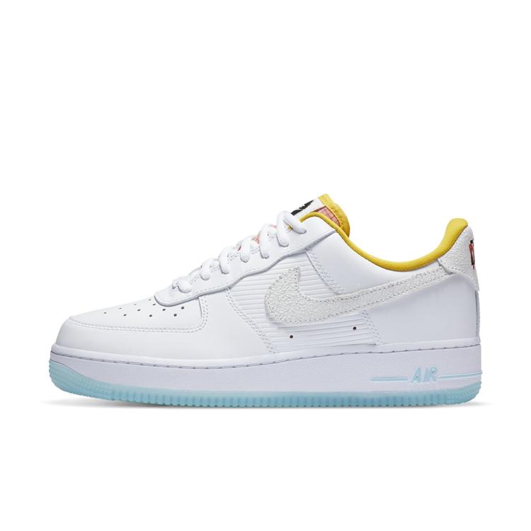 Nike,Air Force 1,AF1  橙色内衬 + 淡蓝外底!夏天就要穿这样的 Air Force 1!