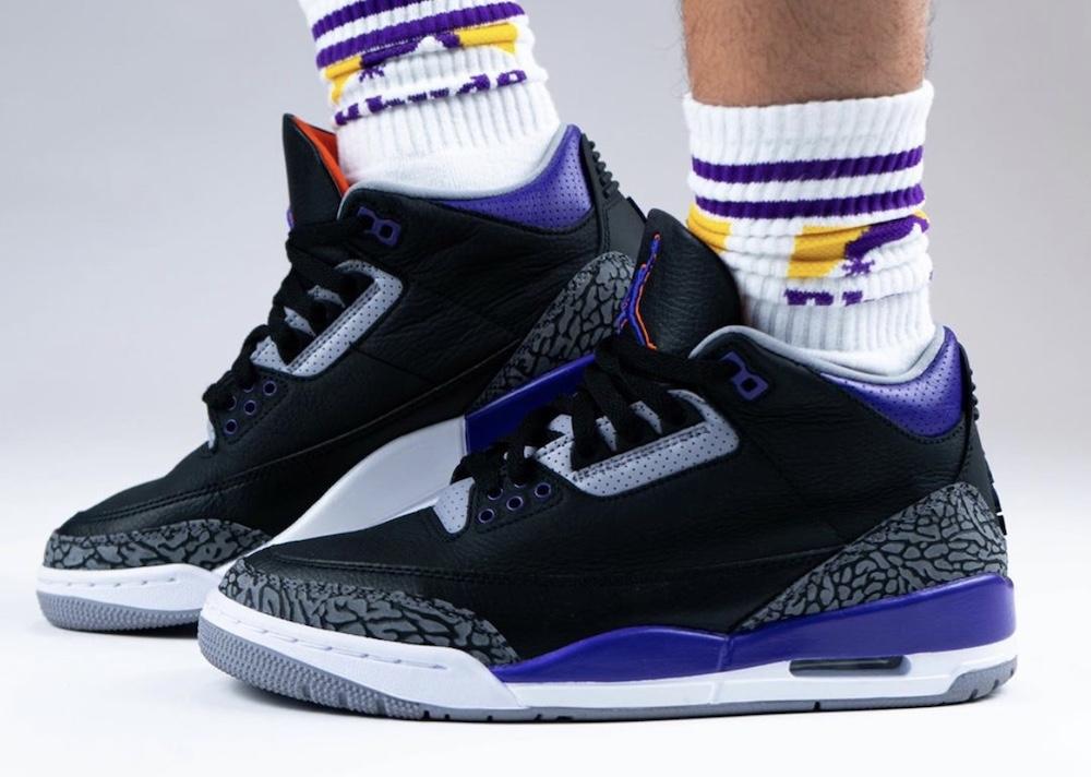 Air Jordan 3,AJ3,发售  取消发售的黑紫 AJ3 曝光上脚!买不到,真是太可惜了...
