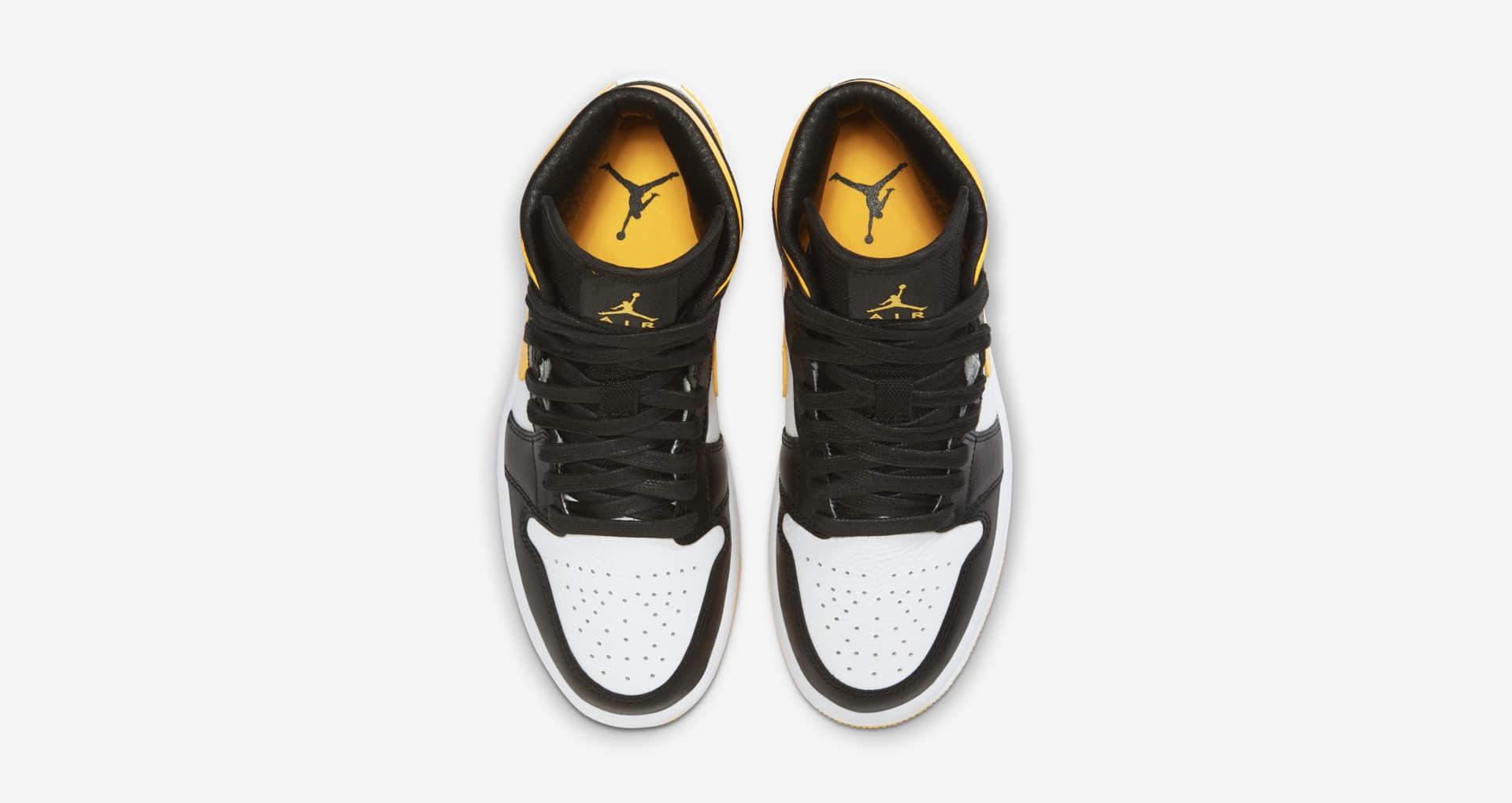 Air Jordan 1 Mid,AJ1 Mid,发售  黑脚趾 + 黄色飞翼!全新 Air Jordan 1 Mid 上架!