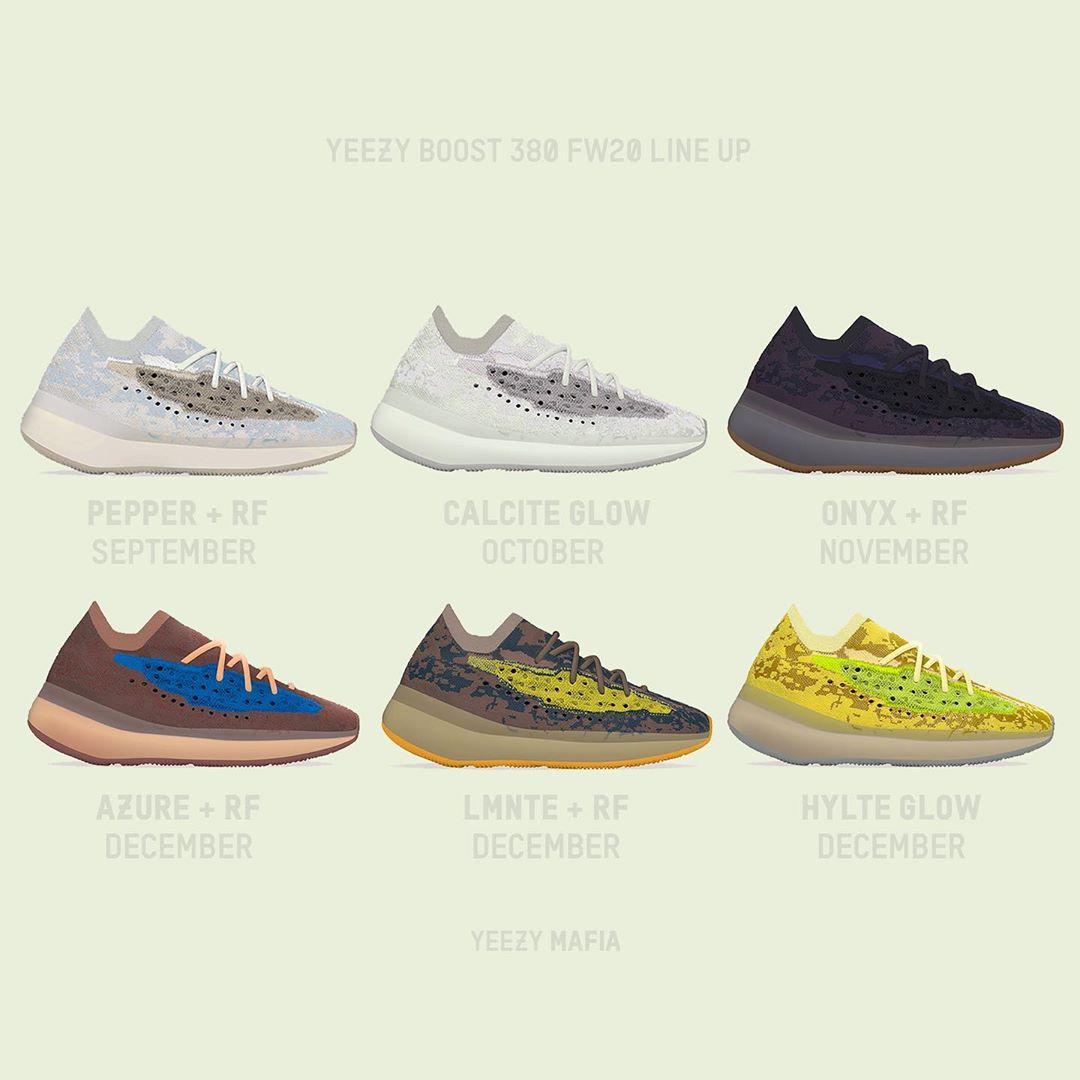 Yeezy 380,adidas,FZ4986  蓝侧透 + 大地色!Yeezy 380 新配色实物首次曝光!