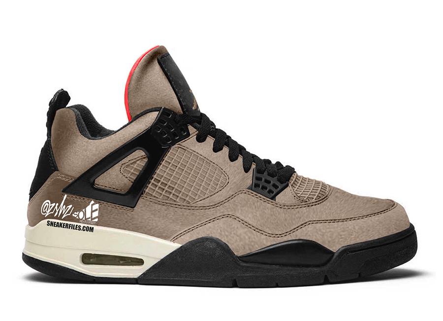 AJ4,Air Jordan 4,DB0732-200  酷似 Travis Scott 风格!这款 AJ4 新配色值得关注!