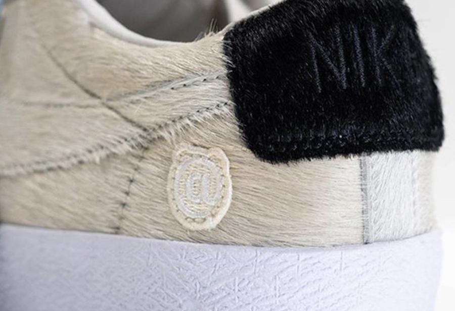 BE@RBRICK,Nike,Blazer,CZ4620-2  也是华丽马毛材质!小熊 BE@RBRICK 联名还有一双 Blazer!