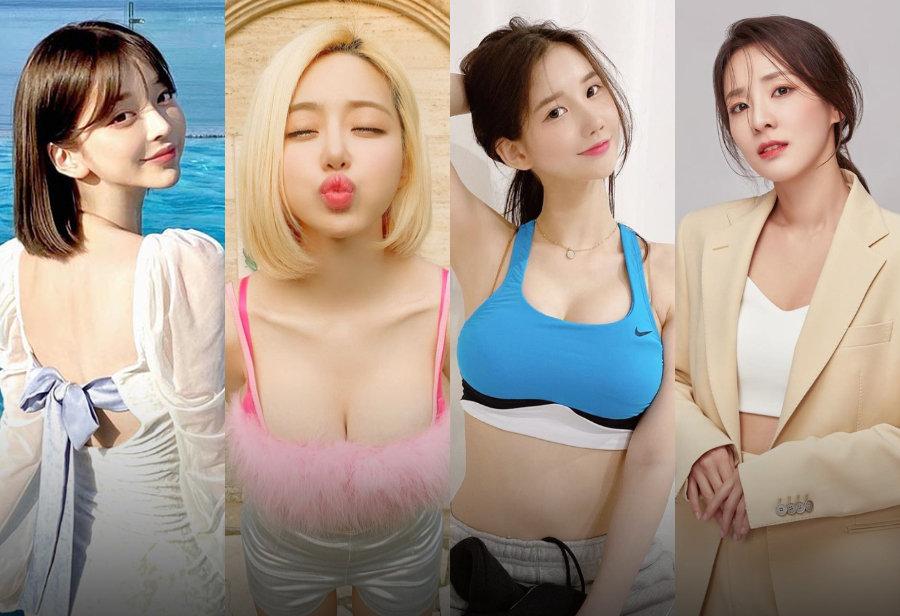 DJ Soda,Taeri,姜泰莉,美玲元,Sandara  天太热了!「球鞋女神」越穿越少!泳装晒鞋你见过吗?